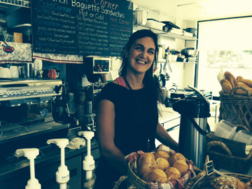 French Corner owner Alexandra Palombi-Long serving up delicious French fare