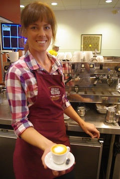 Local barista Becca Moak