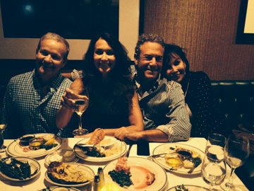 David Boylan, Harley and Michelle Feinstein and Tracy Tracton enjoying dinner at Red Tracton's
