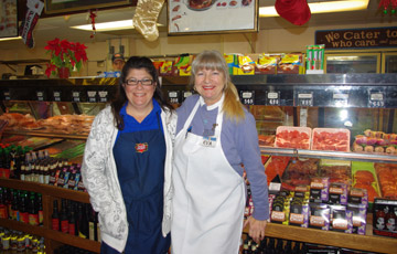 Char, Eva and the substantial meat counter at Tip Top Meats